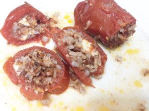 Pomodori San Marzano ripieni di Riso Rosso integrale