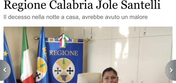 Si spegne la Presidente della Regione Calabria