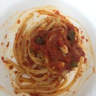 Spaghetti in dadolata di ricotta al forno