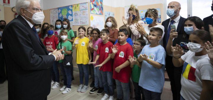 Tutti a scuola in Calabria la visita del Presidente della Repubblica